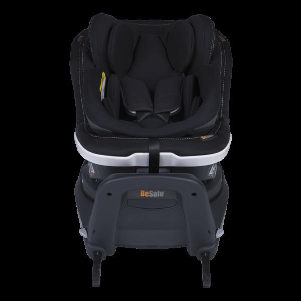 In exclusivem Design: Twist B i-Size in Premium Car Interior Black - schwarz mit Doppelziernähten