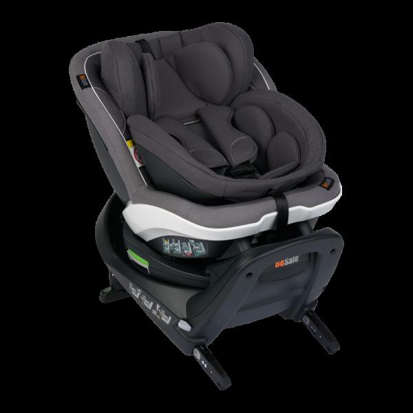 Drehbarer Reboard-Kindersitz Turn B i-Size in Hellgrau