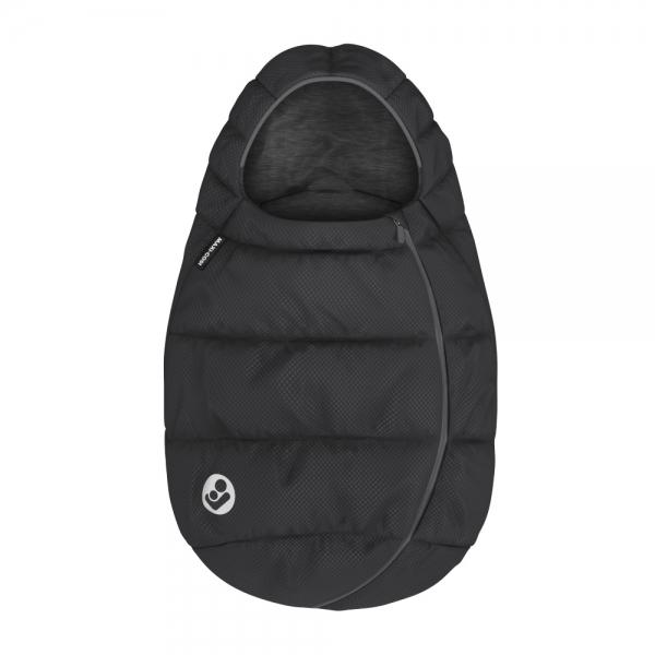 Umschließt Ihr Kind und wärmt im Winter - Fußsack in schwarz