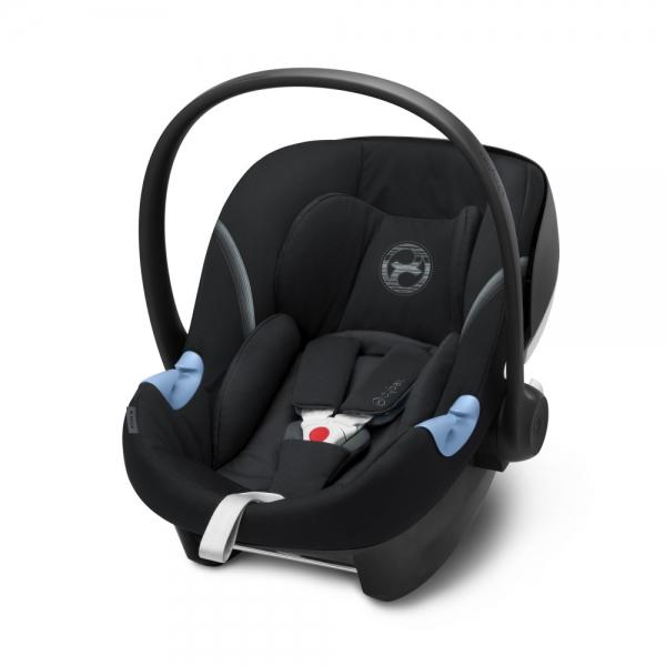 Schwarze Babyschale Aton M i-Size von Cybex - mit Flugzulassung