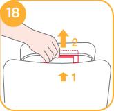 Einstellen der Kopfstütze des Spin Safe