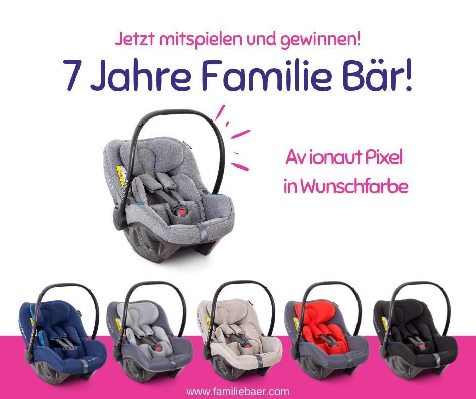 Babyschale gewinnen bei Familie Bär