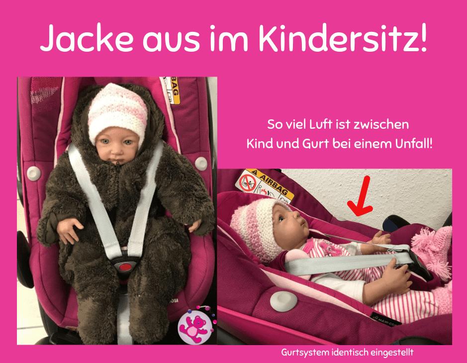 zu lockere Gurte Babyschale Kindersitz