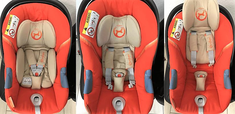 Babyschale für kleine und große Babys / Mitwachsfunktion