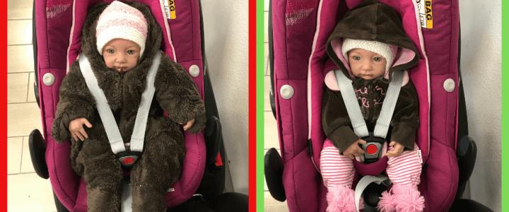 Jacke aus im Kindersitz! – Wieso dicke Winterkleidung im Auto so gefährlich ist