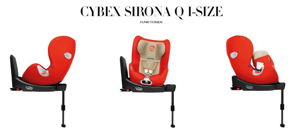 Cybex Sirona Q i-Size Reboarder vorwärts rückwärts