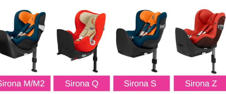 Cybex Sirona, Sirona M und M2, Q, S, Z und Sirona Z R i-Size: Wie unterscheiden sich diese Kindersitze?