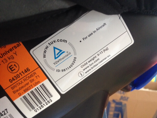 label Flugzulassung Aufkleber