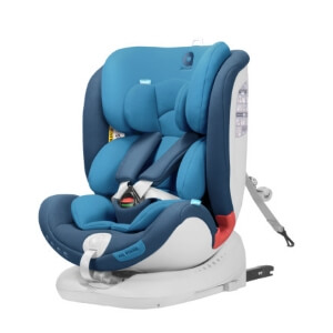 Gruppenübergreifender Kindersitz mit Rückwärtsfahrfunktion in blau