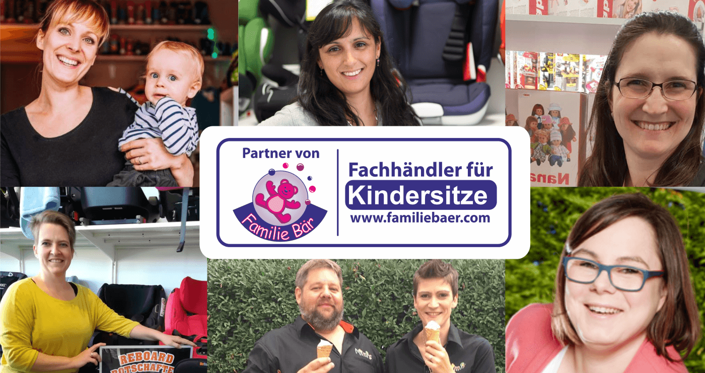 Collage Kindersitzhändler Deutschland