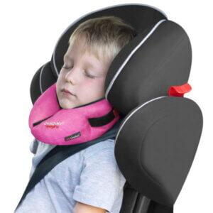 Nackenkissen für den Kindersitz rosa