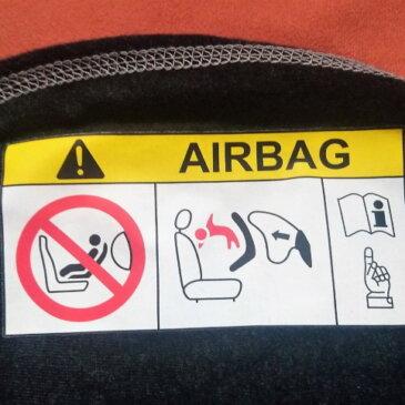 Aufkleber Airbag Kindersitz