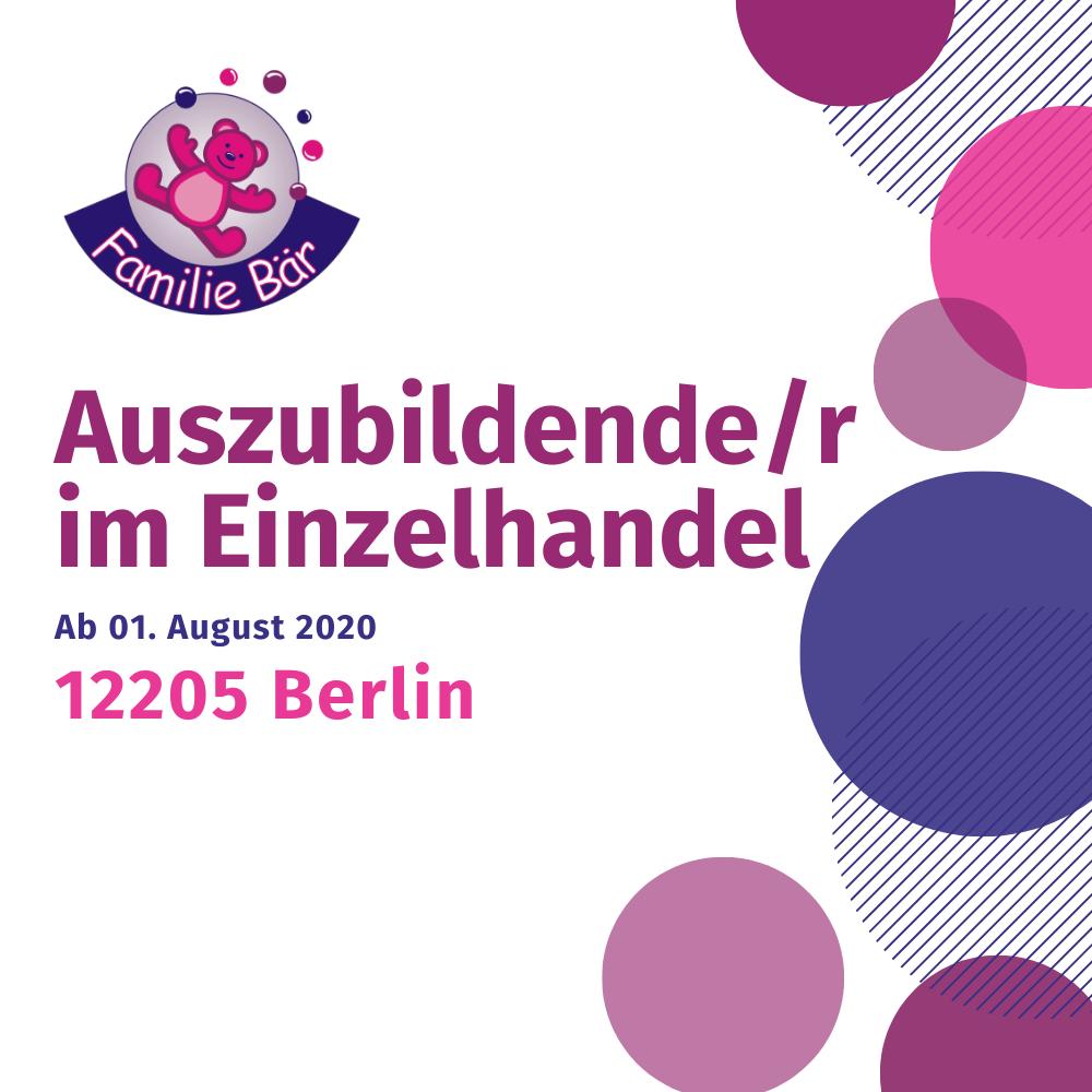 Stellenangebot Auszubildende Berlin Einzelhandel