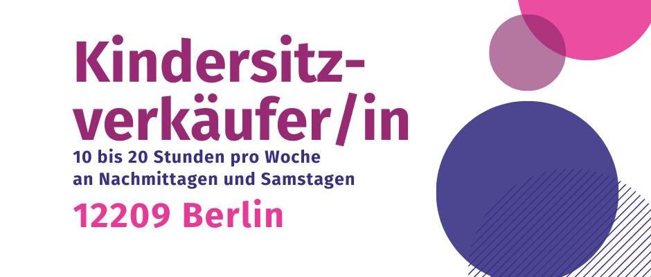 Job Teilzeit Familie Bär Kindersitzladen Berlin