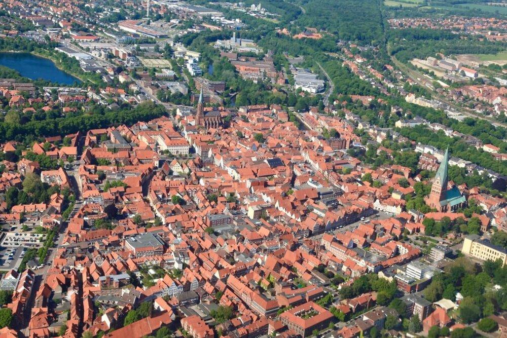 Lueneburg Vogelperspektive Altstadt